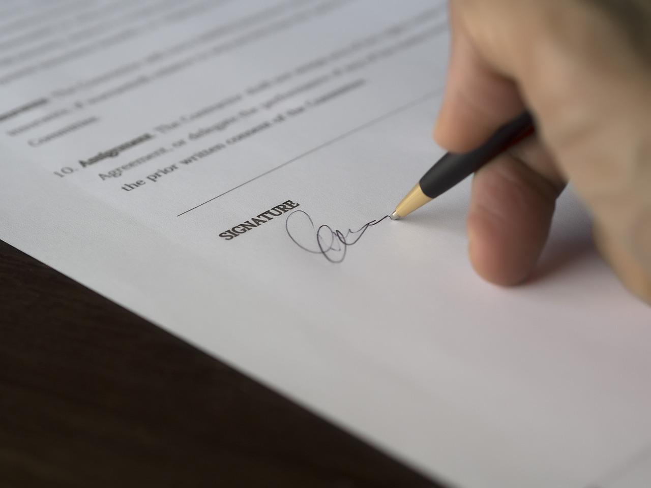 Résiliation d'un mandat de gestion locative -signature
